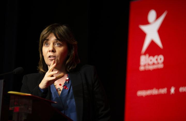 Catarina Martins, coordenadora do BE, discursa durante o Encontro do Interior 2019, fórum que tem como objetivo discutir políticas para o interior, Alijó, 26 de janeiro de 2019. PEDRO SARMENTO COSTA/LUSA