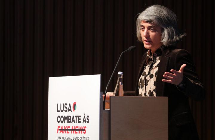 A ministra da Cultura, Graça Fonseca, intervém na abertura da Conferência