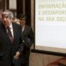 O presidente da Assembleia da República, Eduardo Ferro Rodrigues, durante a cerimónia de abertura da conferência parlamentar