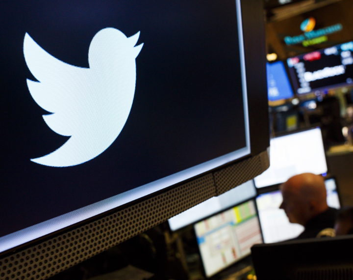epaselect epa06914811 A view of a logo for the company Twitter on the floor of the New York Stock Exchange in New York, New York, USA, on 27 July 2018. Shares of the social media company fell over 20 percent after reporting a decline in active users.  EPA/JUSTIN LANE