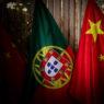 Bandeiras de Portugal e China, Palácio de  Queluz, Portugal, 5 de dezembro de 2018. MÁRIO CRUZ/LUSA