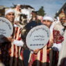 epa07177840 Moroccans take part in a procession marking the 1448th anniversary of the birth of the Prophet Muhammad, at what is known in Arabic as 'the Prophet's birthplace' in Sale, Morroco, 19 November 2018. Mawlid of Prophet Muhammad is observed on the 12th day of Rabi al-Awwal (The third month of the Islamic calander) in Sunni Islam which is expected to be on 20 November 2018 and 17th day in Shiite Islam. Mawlid is celebrated for a week by decorating the streets, making local sweets called Halawet al-Mawlid (Mawlid's candy), and gathering to tell stories and learn from the life of Prophet Muhammad.  EPA/JALAL MORCHIDI
