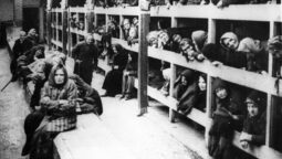epa02005993 (FILE) An undated black and white file photo shows prisoners in Auschwitz-Birkenau, the Nazi German Concentration and Extermination Camp (1940-1945). Ceremonies on 26 January 2010 will mark the 65th anniversary of the liberation of  the former death camp and International Holocaust Remembrance Day that Israel commemorates on 27 January.  EPA/STR POLAND OUT - REPRODUCTION - B/W ONLY