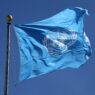 epa04947501 The United Nations flag flies outside United Nations Headquarters in New York City, New York, USA, 24 September 2015. Pope Francis will address the UN General Assembly 25 September and the UN Development Summit and General Assembly will take place from 25 September through 03 October with more than 150 heads of state in attendance.  EPA/MATT CAMPBELL